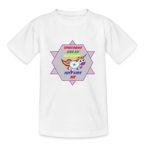 Unicorn with joke - Teenage T-Shirt