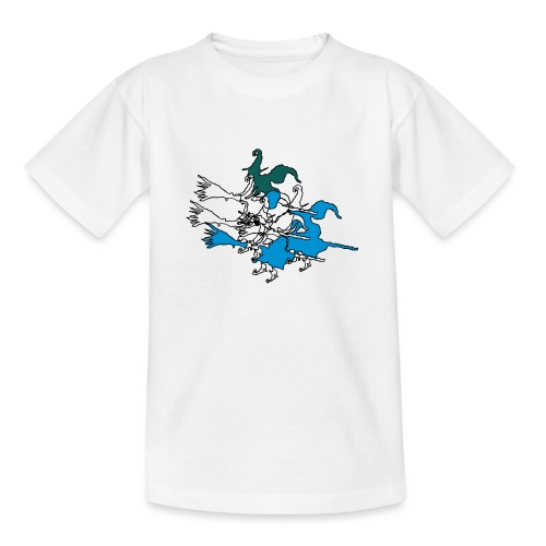 Witches on broomsticks Men's T-Shirt - Teenage T-Shirt