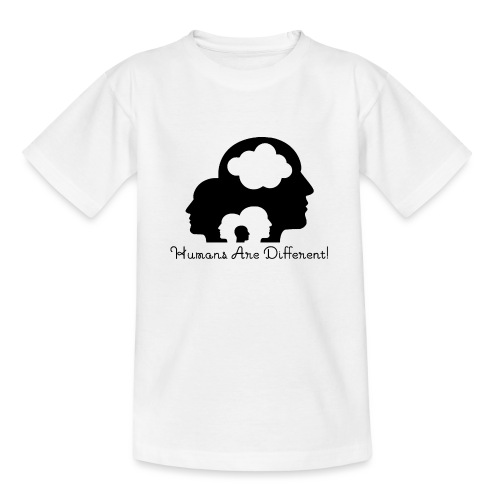 Humans are different schwarz - Teenager T-Shirt