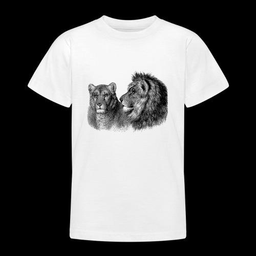 Löwenpaar - Teenager T-Shirt