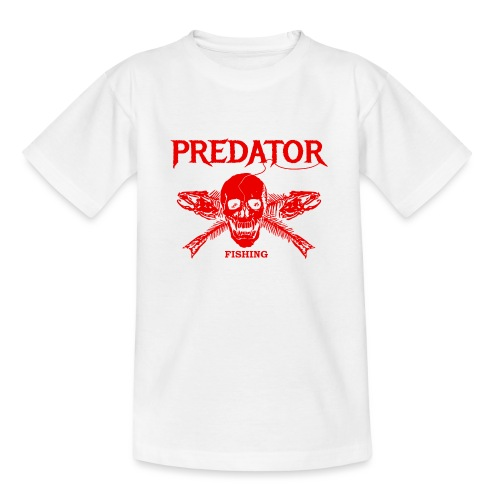 Predator fishing red - Teenager T-Shirt