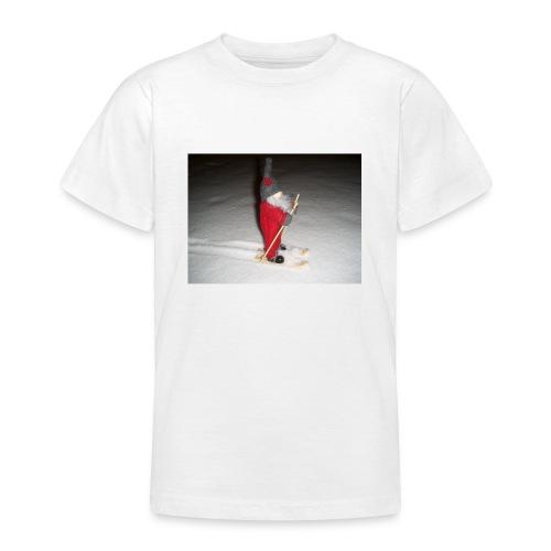Joulutonttu hiihtämässä - Nuorten t-paita