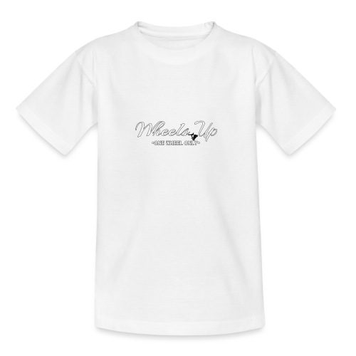 wheels up black figure - Teenage T-Shirt