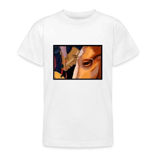 Man and Horse - Teenager T-shirt