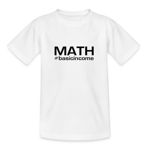 math-black - Teenager T-shirt