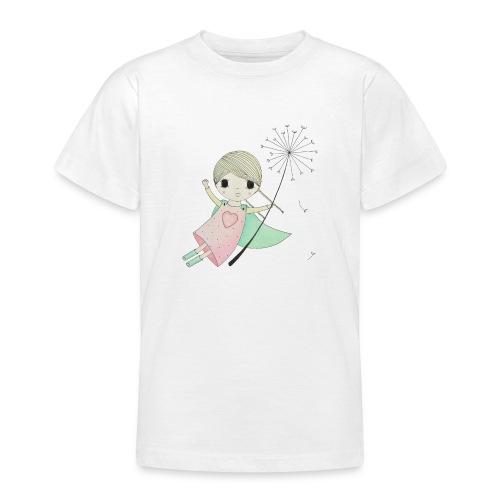 meisje aan uitgebloeide paardenbloem - Teenager T-shirt
