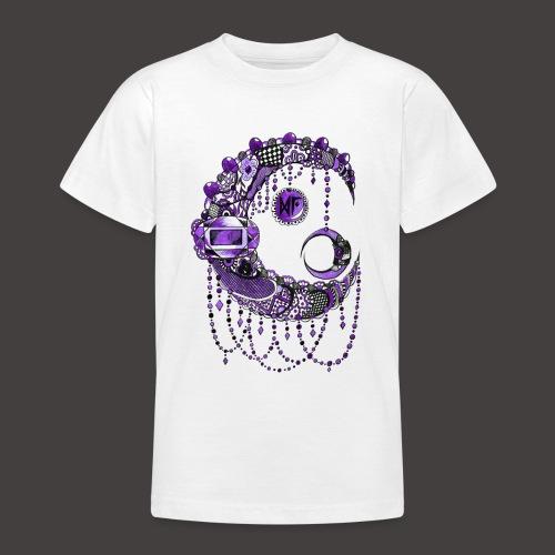 Lune dentelle Violette - T-shirt Ado