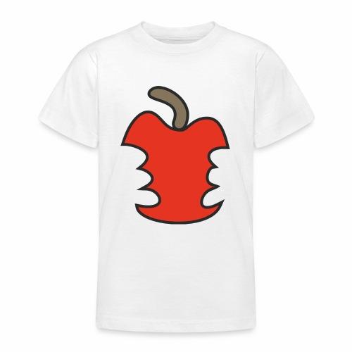 Apfel angebissen - Teenager T-Shirt