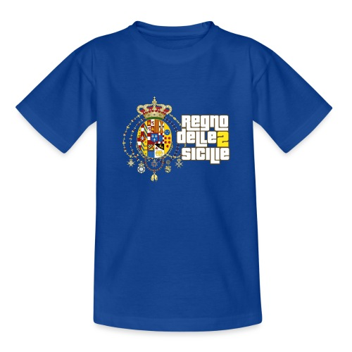 regno delle 2 sicilie testo bianco - Maglietta per ragazzi