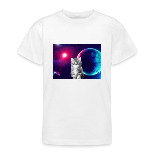 Cute cat in space - Nuorten t-paita