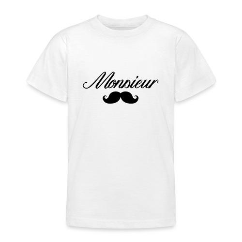 monsieur moustache logo - T-shirt Ado