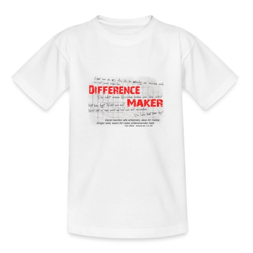 Difference Maker dunkel - Teenager T-Shirt