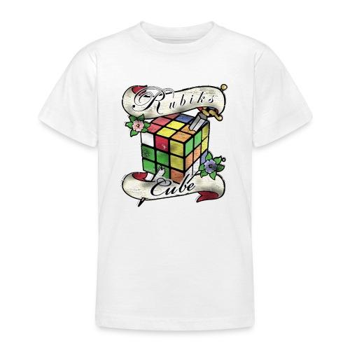 Rubik's Cube Tatoo - T-skjorte for tenåringer