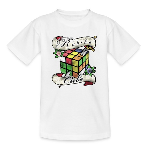 Rubik's Cube Tatoo - Teenager-T-shirt