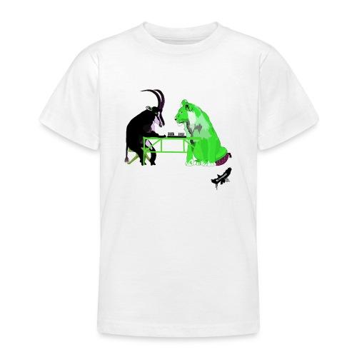Playing Senet by BlackenedMoonArts, green w. logo - Teenager-T-shirt