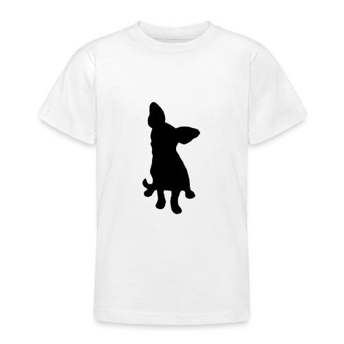 Chihuahua istuva musta - Nuorten t-paita