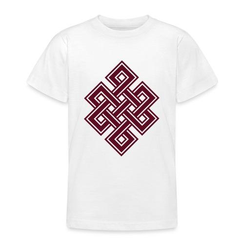 Endlos Knoten, Tibet, Unendlich, Buddhismus, Glück - Teenager T-Shirt