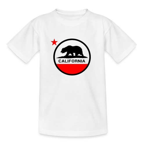 California Circle Flag - Teenage T-Shirt