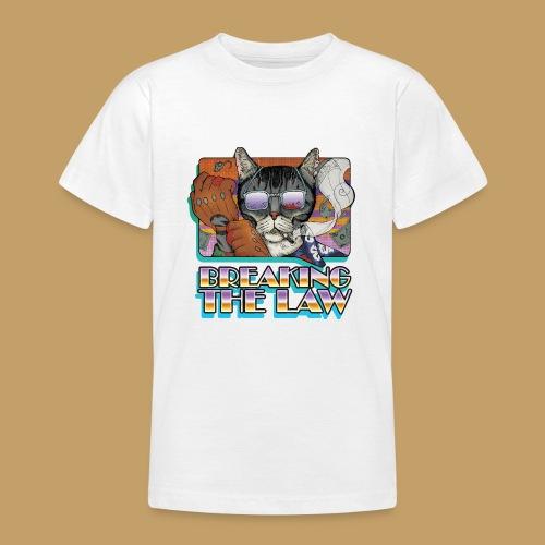 Crime Cat in Shades - Braking the Law - Koszulka młodzieżowa