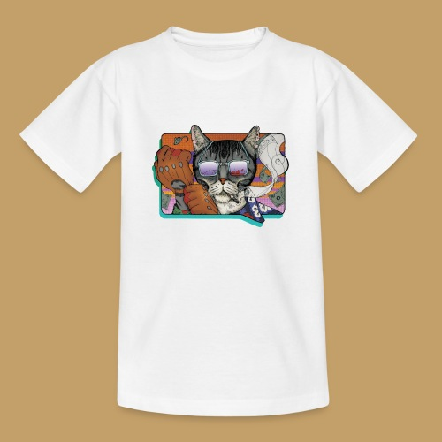 Crime Cat in Shades - Koszulka młodzieżowa