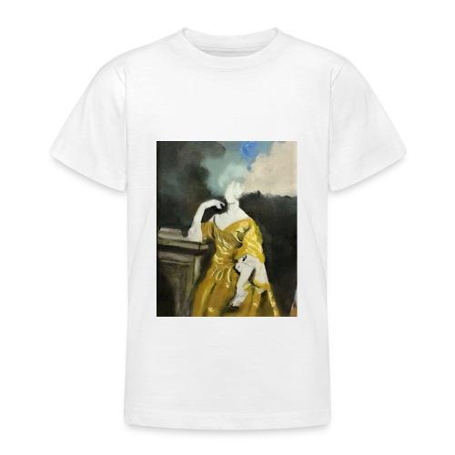 Donna sognatrice, in giallo. Arte da indossare. - Maglietta per ragazzi