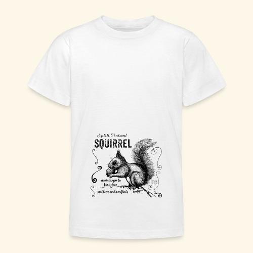 Spirit Animal Eichhörnchen schwarz - Teenager T-Shirt