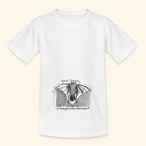 Spirit Animal Fledermaus schwarz - Teenager T-Shirt