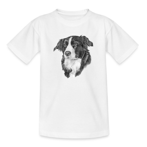 border collie 1 - Teenager-T-shirt