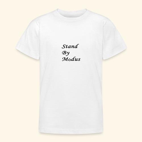 Schrift schwarz - Teenager T-Shirt