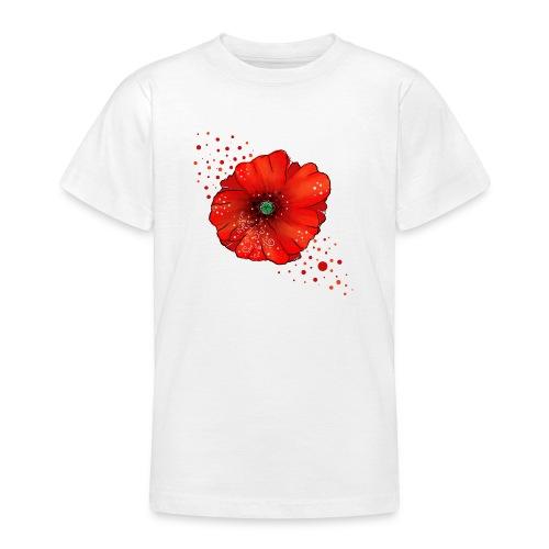 Mohnblume - Teenager T-Shirt