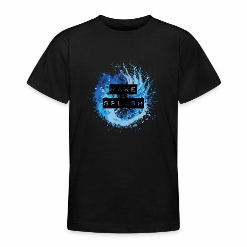 Make a Splash - Aquarell Design in Blau - Teenager T-Shirt
