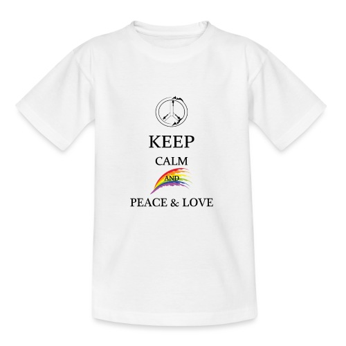 keep calm and Peace & Lov - Maglietta per ragazzi