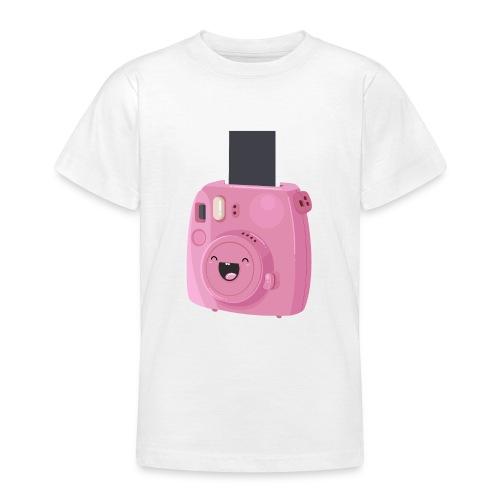 Appareil photo instantané rose - T-shirt Ado