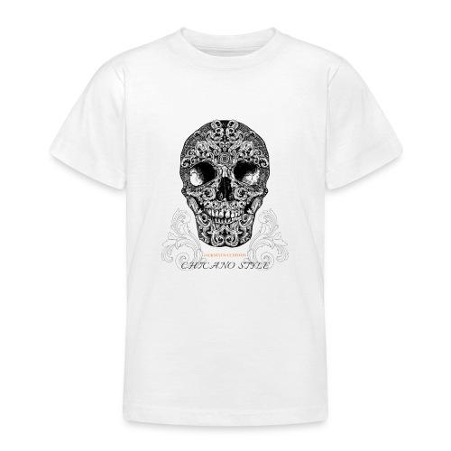 Chicano Style, Motorrad Rocker Skull Totenkopf HD - Teenager T-Shirt