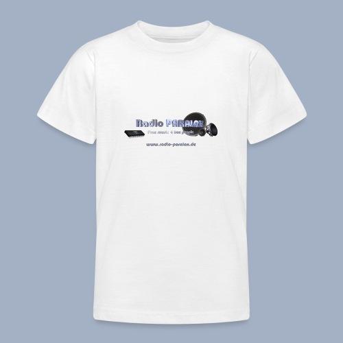 Radio PARALAX Facebook-Logo mit Webadresse - Teenager T-Shirt
