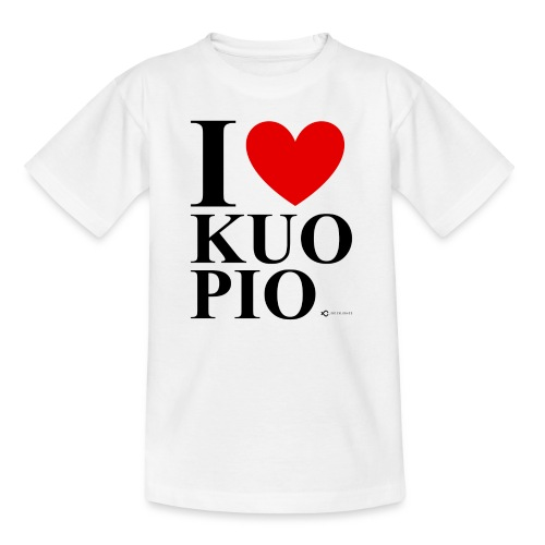 I LOVE KUOPIO ORIGINAL (musta) - Nuorten t-paita