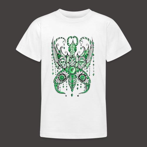 Papillon Lilou Vert - T-shirt Ado
