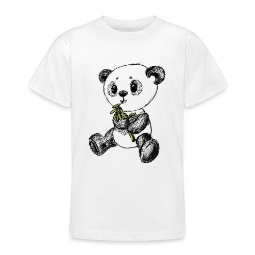 Panda Bär farbig scribblesirii - Teenager T-Shirt