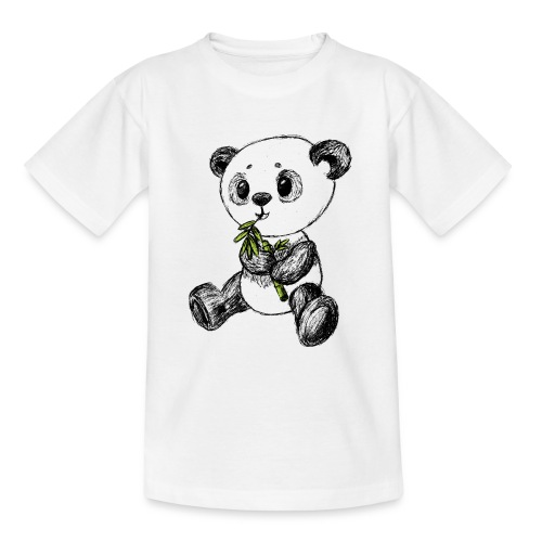 Panda bear colored scribblesirii - Teenage T-Shirt