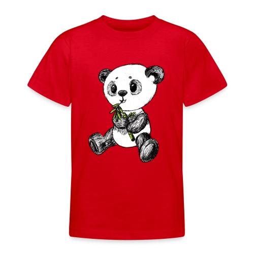 Panda bjørn farvet scribblesirii - Teenager-T-shirt