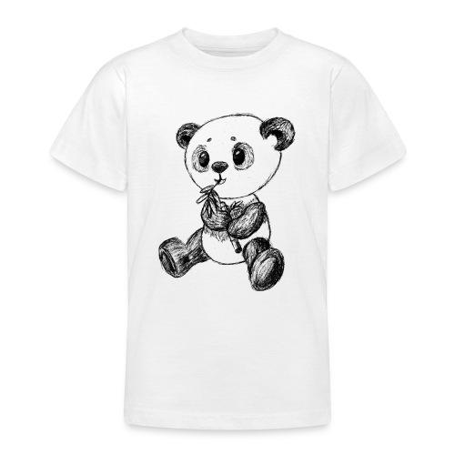 Panda Karhu musta scribblesirii - Nuorten t-paita