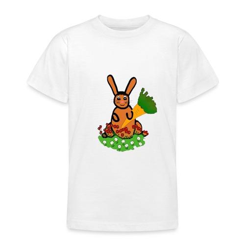 Rabbit with carrot - Teenage T-Shirt