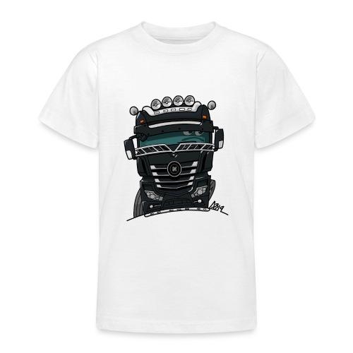 0807 M truck zwart - Teenager T-shirt