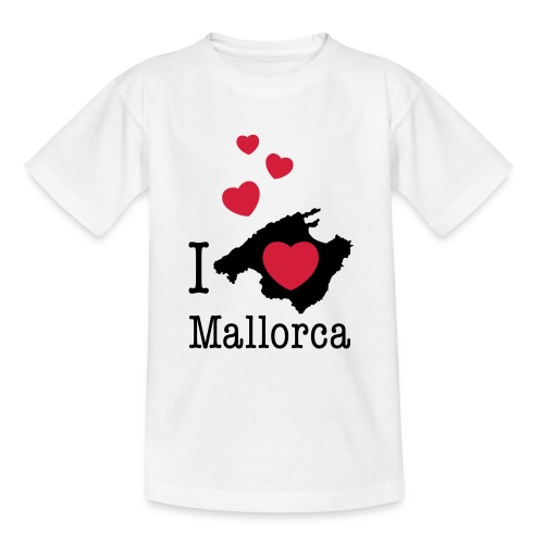 love Mallorca Balearen Spanien Ferieninsel Urlaub - Teenage T-Shirt