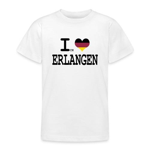ich liebe erlangen - Teenager T-Shirt
