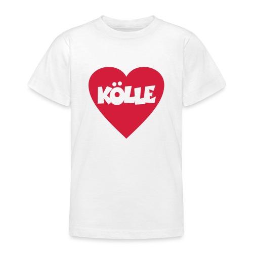 I Love Kölle - Ein Herz für Köln - Teenager T-Shirt