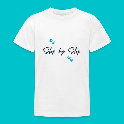 Step by Step (zampine azzurre) - Maglietta per ragazzi