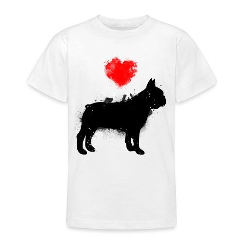 Französische Bulldogge Wunschname - Teenager T-Shirt
