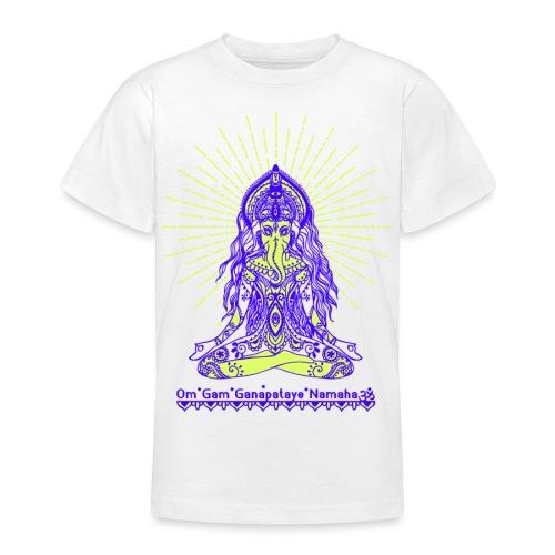 Yogafashion Hippie Ganesha dein Glücksgott - Teenager T-Shirt
