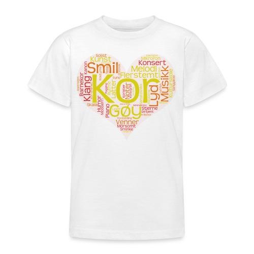 Barnekoret-4000 - T-skjorte for tenåringer
